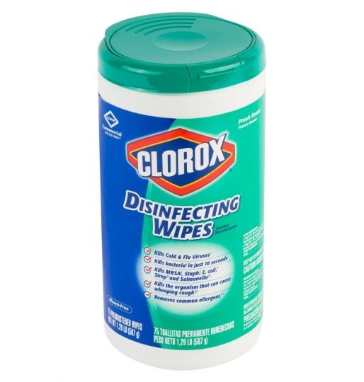 Disinfecting Wipes – Clorox – Single Tube 75 Count