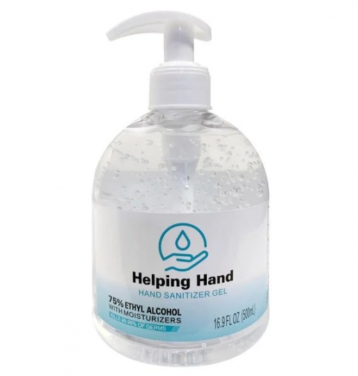 Hand Sanitizer 16.9oz Bottle w/ Pump – Case of 12